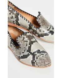 Veronica Beard Griffin Flats - Natural
