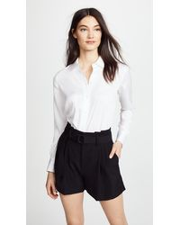 Vince Slim Fitted Blouse - White