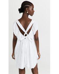 Free People Angele Mini Dress - White