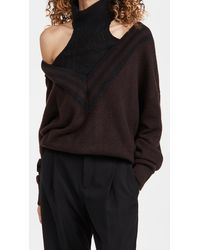 By Any Other Name Varsity Halter Cashmere Sweater - Black
