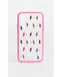 Kate Spade Jewelled Flock Party Iphone Case - Multicolour