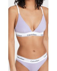 Calvin Klein Modern Cotton Triangle Unlined Bra - Multicolor