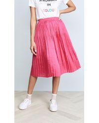 Endless Rose Pleated Midi Skirt - Pink