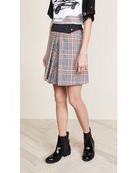 Versus - Plaid Miniskirt - Lyst