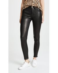 FRAME Le High Skinny Trousers - Black