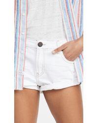 One Teaspoon White Beauty Bandits Low Waist Denim Shorts