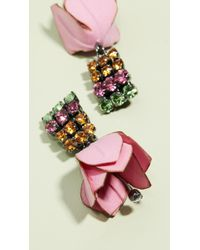Marni - Flower And Strass Earrings - Lyst