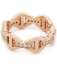WALTERS FAITH - Keynes Diamond Hexagon Stackable Ring - Lyst