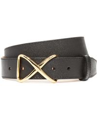 W. Kleinberg - Pimmed Leather X Belt - Lyst