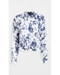 Bassike Cropped Double Jersey Sweatshirt - Blue