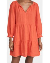 Velvet Gauze Dress - Orange