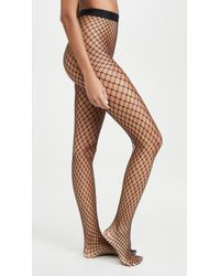 Wolford Forties Fishnet Tights - Black