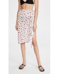 HVN - Mesh Wrap Skirt - Lyst