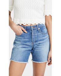 Veronica Beard Shiloh Mid Length Shorts - Blue