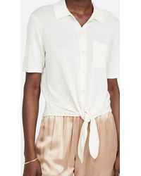 Theory Hekanina Tie Front Top - White