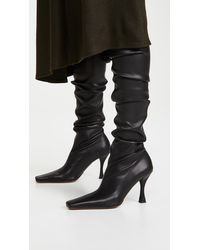 Proenza Schouler Over The Knee Stretch Boots - Black