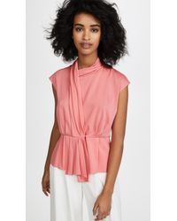 TOME - Sash Front Blouse - Lyst