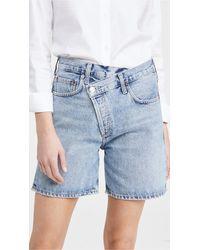 Agolde - Crisscross Upsized Shorts - Lyst