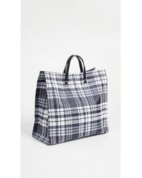 Clare V. - Navy Plaid Simple Tote - Lyst