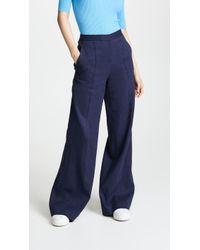 Diane von Furstenberg - Pleat Front Flare Trousers - Lyst