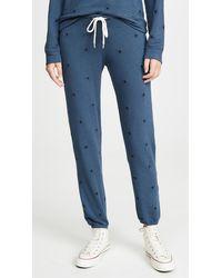 Monrow All Over Star Sweats - Blue
