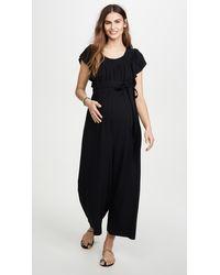 Ingrid & Isabel Wide Leg Maternity Jumpsuit - Black