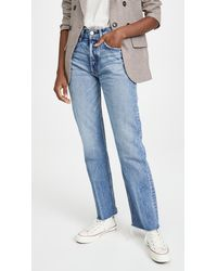 Moussy Ashley's Wide Straight Jeans - Blue