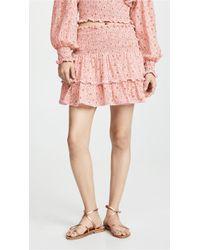 She Made Me - Ruffled Mini Skirt - Lyst