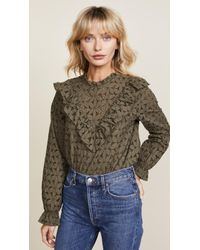 Cooper & Ella - Embroidered Eyelet Top - Lyst