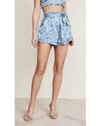 For Love & Lemons - Spring Bloom Ruffle Shorts - Lyst