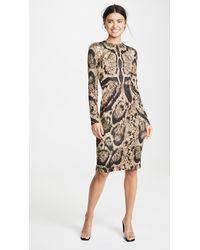 Yigal Azrouël Clouded Leopard Print Dress - Multicolour