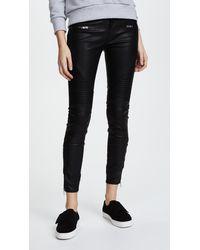 Blank NYC Black Vegan Leather Moto Trousers