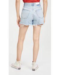 RE/DONE 50s Cutoff Shorts - Blue