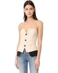 Laveer - Snap Up Tux Bustier - Lyst