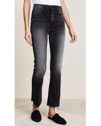 Mother - The Hustler Ankle Fray Jeans - Lyst
