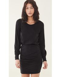 Sundry Ruched Dress - Black