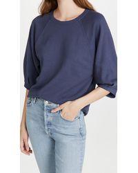 AMO Puff Sleeve Sweatshirt - Blue