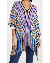 Missoni Poncho Stripe & Zigzag Prints - Blue