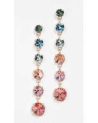 Roxanne Assoulin Technicolor Mini Crystal Drop Earrings - Multicolor