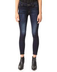 Hudson | Nico Mid Rise Ankle Super Skinny Jeans | Lyst