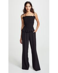 Tory Burch - Smocked Jumpsuit - Lyst