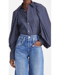 Toga Cape Cotton Check Shirt - Blue