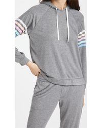 Pj Salvage Colorful Classic Sweatshirt - Grey
