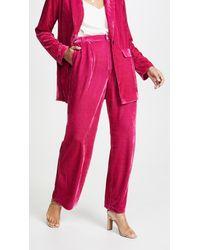 Endless Rose Velvet Wide Leg Pants - Pink