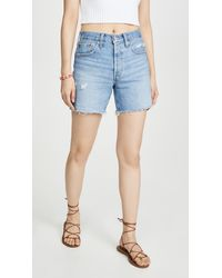 Levi's 501 Mid Thigh Shorts - Blue