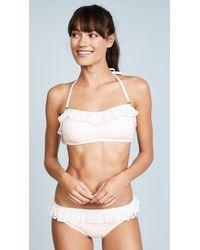 Kate Spade - Point Loma Ruffle Bandeau Bikini Top - Lyst