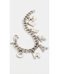 What Goes Around Comes Around Chanel Charm Bracelet - Metallic
