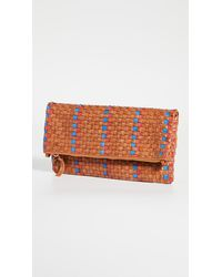 Clare V. Fold Over Clutch - Natural