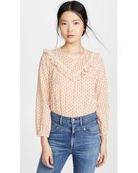 Madewell Ruffle Yoke Prairie Top - Multicolour