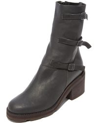 LD Tuttle The Blade Buckle Boots - Black